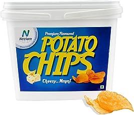 Neelam Foodland Box Pack Premium Flavoured cheesy Potato Chips, 200g