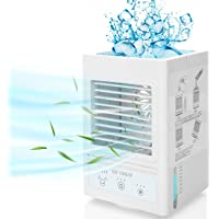 Fitfirst Climatiseur Mobile Silencieux avec 5000mAh Batterie Rechargeable, Mini-Refroidisseur d'Air Personnel à…