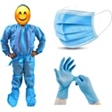 Go Klean Laminated PPE Kit for Kids & Children for Travel, School, Hospital, Home, Salon/Free Size (Age: 6-8) Safety…