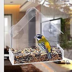 Arvin87Lyly Vogel Futterhaus Fenster Vogelhaus Futterstation Futterspender Futterhaus Durchsichtig, Mit Saugnäpfen Zum Aufhängen