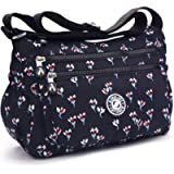 Womens Multi Pocket Casual Crossbody Bag Shoulder Messenger bag Handbag for Daily Use Slightly waterproof
