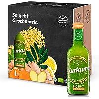 Kloster Kitchen - CurcumaTRINK Bigshot - 6 bottiglie di curcuma organica di 250ml, ciascuna con 12 volte 20ml di zenzero…