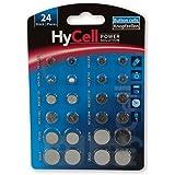 HyCell 1516-0003 - Set di batterie alcaline/al litio a bottone (ciascuno di 2 pezzi CR1620, CR2016, CR2025, CR2032, LR41, LR4