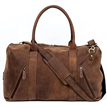 e699574ed1dc Lakeland Leather Discoverer Large Real Leather Holdall 52x27x23cm in Brown