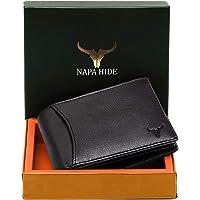 Napa Hide India Leather Men's Wallet (Black)