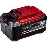 Einhell 4511437 Power X-Change Plus - Batería 5.2Ah 18 V duración de carga 80 min, color negro y rojo