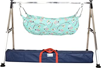 A to Z HUB Baby Boy's and Girl's Portable Folding Swing Cradle, Black