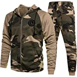 LBL Men's Casual Tracksuit Set 2 Piece Athletic Sweat Suits Long Sleeve Full-Zip Running Joggers Set