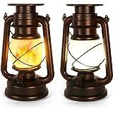 Lanterne Solaire Extérieure, 2 Pièces Lampe Tempete Solaire, Lanterne Solaire Jardin, Lampe Tempete Led, Deux Modes D'éclaira