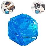 PEDOMUS Hundespielzeug Ball mit LED Licht und Squeaker, Spielzeug für Hunde, Hundebälle, leuchtet in wechselnden Farben, zahnfreundlichaus thermoplastischem Gummi. Ø 6,6 cm