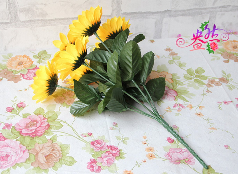 Chytaii Artificial Flores Falsas Decoración del Hogar Ramo de Flores Artificiales Día del Maestro Boda/Hogar/Oficina…