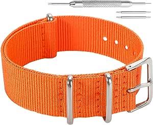 AUTULET colorato stile NATO classico della moda sostituzione cinturino in nylon balistico per gli uomini donne