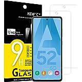 NEW'C 2-Stuks, ScreenProtector voor Samsung Galaxy A52, A52 5G, A52S 5G, Gehard Glass Schermbeschermer Film 0.33 mm ultra tra