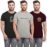 BULLMER Men's Slim Fit T-shirt (Set of 3)