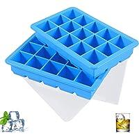 LessMo 2 Paquets Bacs à Glaçons, Moules à Glaçons Silicone 15 Cavités avec Couvercle Amovible Résistant Aux…