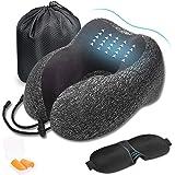 DA HENG Cuscino da viaggio, Cuscino in memory foam, Cuscino di supporto per la testa del collo portatile morbido a forma di U