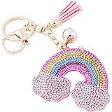 Soleebee Portachiavi in pelle Carino rosa Bling Cristallo Portachiavi auto Fascino accessori per borse e Personalizzare Zaino