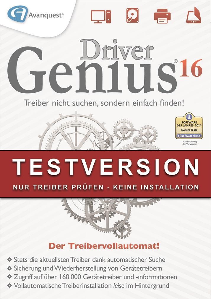 Driver Genius 16 Demoversion - Gratis Treiber prüfen (keine Installation!) [Download] (Windows 7 Treiber Download)