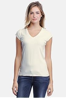 26e844d838fe Rendez Vous Paris T-shirt col V dentelle manches longues en modal ...