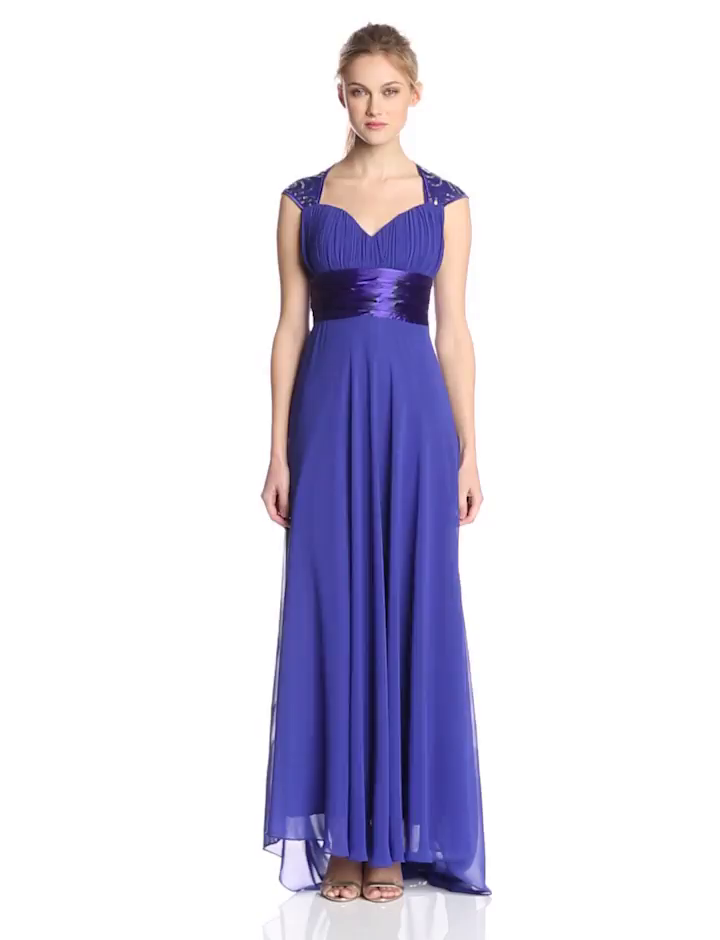 0a5b428ddb Ever Pretty Women s Chiffon Sexy V-Neck Ruffles Empire Line Evening Dress  09672