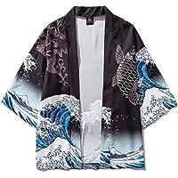 Haori Giapponese, Giapponese Surf Carpa Stampa Cardigan Donna Kimono Estate/Autunno Camicia Larga Top Casual Uomo Kimono…