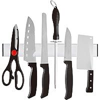 SODIAL Magnetique Auto-adhesif 31 cm Longueur Porte-Couteau en Acier Inoxydable 304 Bloc Aimant Porte-Couteau Support…