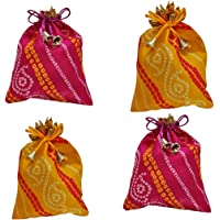 WS Wrap Shap Jaipuri Bandhej Potli Batwa Bag Bridal Purse Women handbag Shagun Pouch Return Gifts