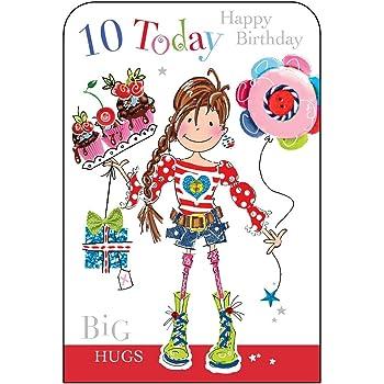 Jonny Javelin Girl Age 10 Birthday Card