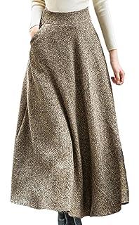 9dbf7aac079f Scothen Mode Femmes Midi Jupes Plissées Taille Haute Longueur Au Genou Jupe  Automne Hiver Jupe A