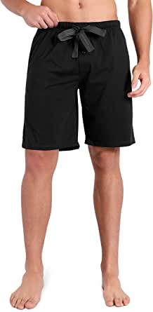 DAVID ARCHY Men's Pyjamas Set/Men's Pyjama Shorts Bottoms, 100% Cotton Mens Short Pyjamas Set/Bottoms, Men's Sleepwear Lounge Wear Shorts Pants Nightwear