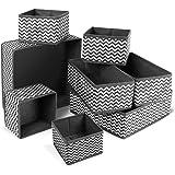 ilauke Organisateur Tiroir,8pcs Boîtes de Rangement Ouvertes de Oxford Haute Qualite Rangement Tiroir Pliable et Respirant,Id