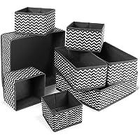 ilauke Organisateur Tiroir,8pcs Boîtes de Rangement Ouvertes de Oxford Haute Qualite Rangement Tiroir Pliable et…