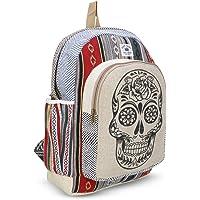 Shanvi Handicraft New Himalayan Hemp Laptop Bag Backpack/School & Traveler Bag (Ghost Design Multicolor)