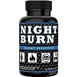 NIGHT BURN Fatburner für die Nacht, Abnehmen + Appetitzügler + Schlafsupport, für Diät im Schlaf, die Nummer 1 Rezeptur aus den USA, Made in Germany nach ISO und HACCP, 60 Kapseln