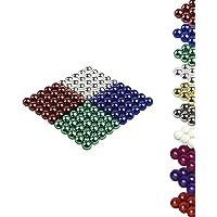 Mag-Balls Lot de 100 Boules magnétiques en néodyme 5 mm A Chrom Rot Grün Blau