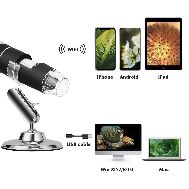 Wireless Digital Microscope, Tobo 50X to 1000X Magnification