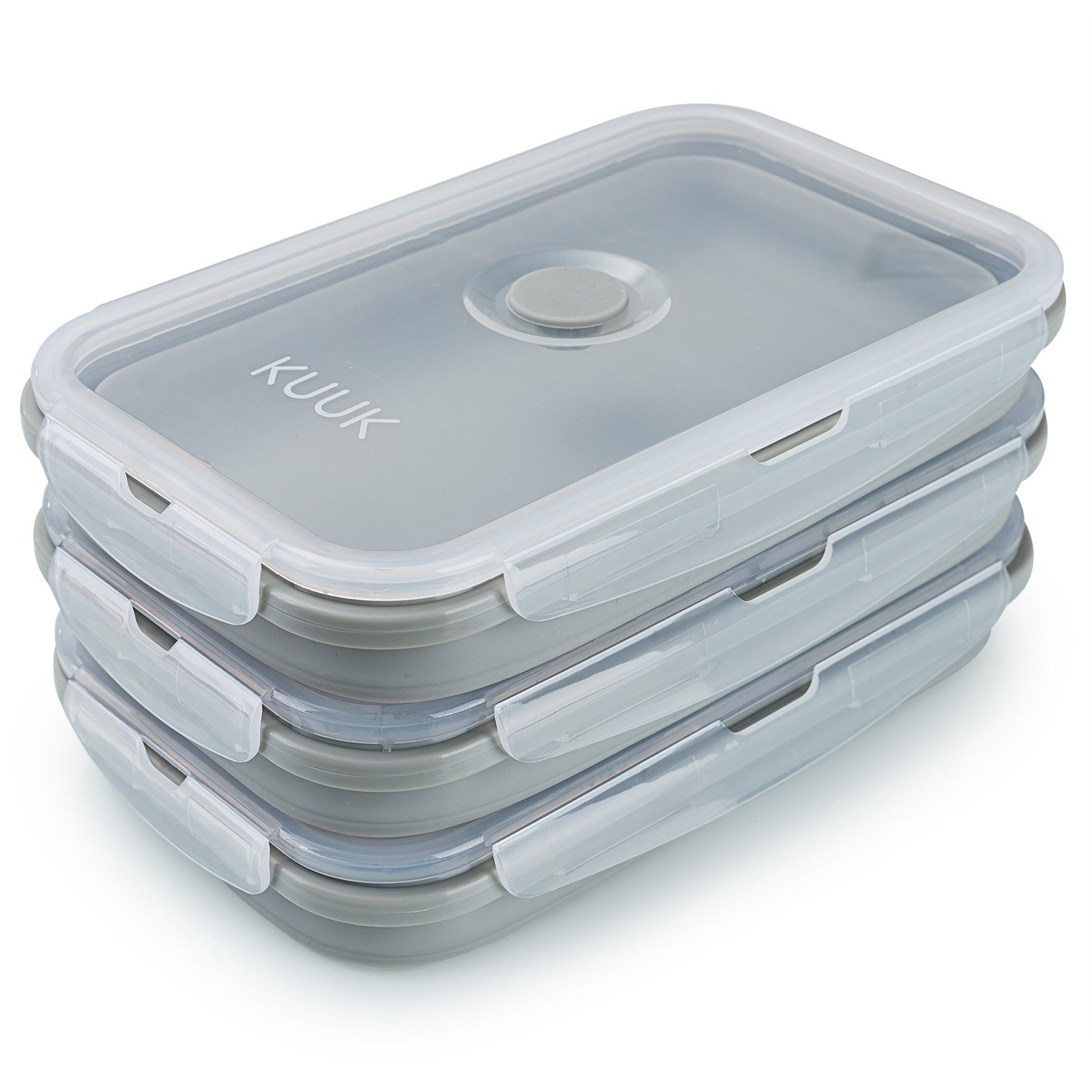 Collapsible Food Storage Container Silicone Kitchen Lunch