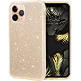 LOXXO Glitter Case Compatible for iPhone 12 Pro Max Case, Glitter Sparkle Bling Case [Three Layer] for Women [Supports Wirele