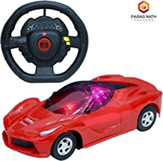 PNT Two Function Radio and Remote Control (1:22) Scale Red Colour Sports Car with Forward, Backward Function and Attractive 3D Light.