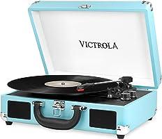 Victrola Suitcase Platine Vinyle Mallette Vintage Bluetooth - Turquoise