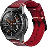 iBazal Bracelet Galaxy Watch 46mm Cuir 22mm Bande Compatible avec Samsung Galaxy Watch 3 45mm/Gear S3 Frontier Classic Band R