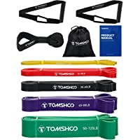 TOMSHOO Elastiche Fitness,Bande di resistenza , [Set di 5] fasce di assistenza pull-up in lattice skin-friendly per…