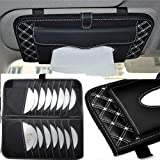 Lukzer 2 in 1 Car Tissue CD Box Cover with Tissue Paper/Fashion Car Styling Car Kit Tissue Box and CD Holder Sun Visor Tissue