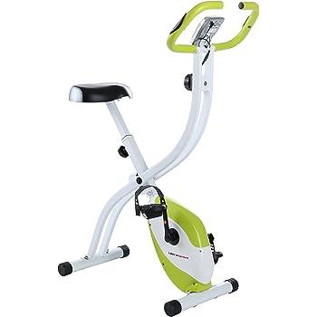 Ultrasport Trainer da Casa F-Bike 150 con Sensori delle Pulsazioni, senza Schienale, Ripiegabile, Verde