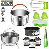 HJL 10 PCS Schnellkochtopf Zubehör Set für Dampfkochtopf für Instant Pot Dampfgarer Korb, Edelstahl Steamer Korb zum Kochen, Energieklasse A +