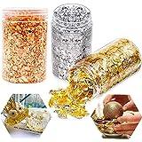 Guldfolieflingor Imitation Guld, Silver, Rose Guldfärg Metallbladfolieflingor för hartsformar Smycken Hängsmycken Formar Kit