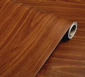 Art3d Papier Peint Autocollant d/écoratif en Vinyle pour Meuble et comptoir Motif Grain de Bois
