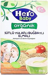 HERO BABY ORGANİK 200GR SÜTLÜ YULAFLI BUĞDAYLI ELMALI