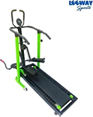Manual Jogger Treadmill 4 in 1 by Leeway| Roller Jogging Machine for Home| Foldable Tread Mill| Multifunction Walking and Jogging Running Exercise Machines|Lifeline Cardio Excersice- (Green)