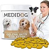 Medidog Gelenk Aktiv Gelenktabletten für Hunde mehr Bewegungsfreude und Mobilität,Teufelskralle, 300 Tabletten á 400mg…